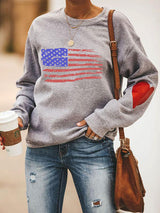 Distressed American Flag Sweatshirt