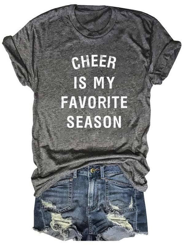 Cheer Is My Favorite Season Tee