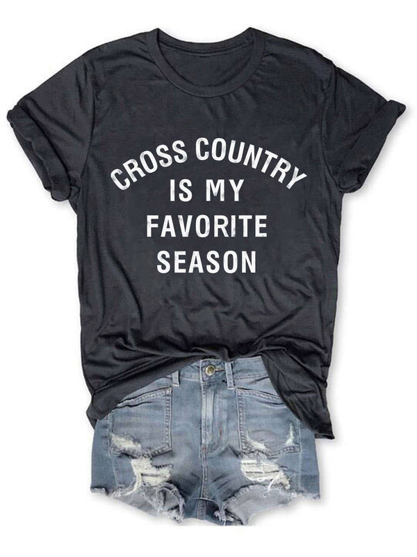Cross Country Is My Favorite Season Tee