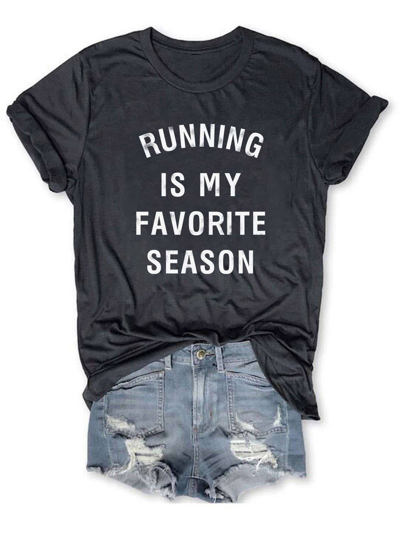 Running Is My Favorite Season Tee