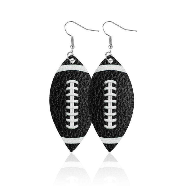 American Football Drop Earrings - Prettiess