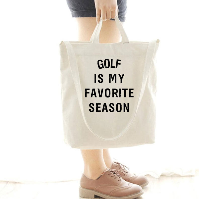 [Special Offer] Golf Is My Favorite Season Canvas Bag