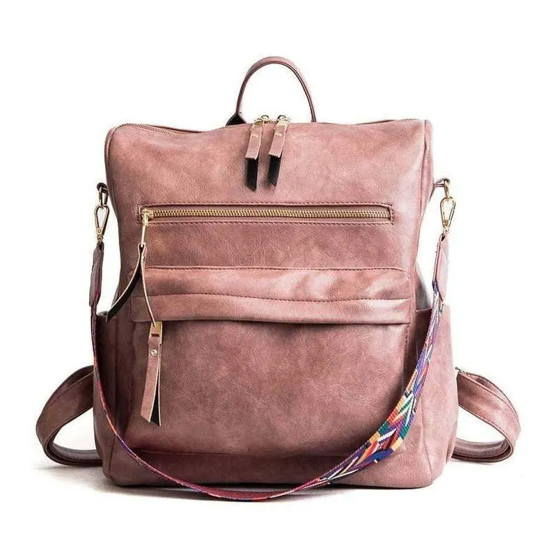 Zipper Backpack Shoulder Bag