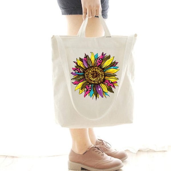 [Special Offer] Leopard Sunflower Canvas Bag
