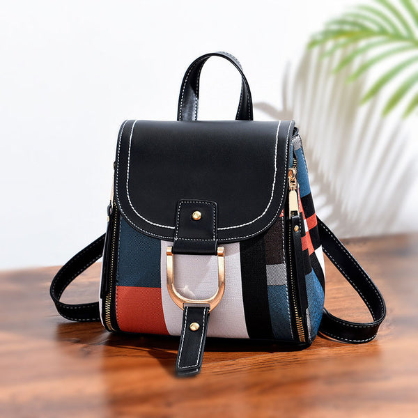 Zipper Square Shoulder Bag Backpack