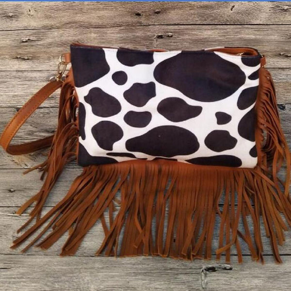 Cow Tassel Retro Shoulder Bag
