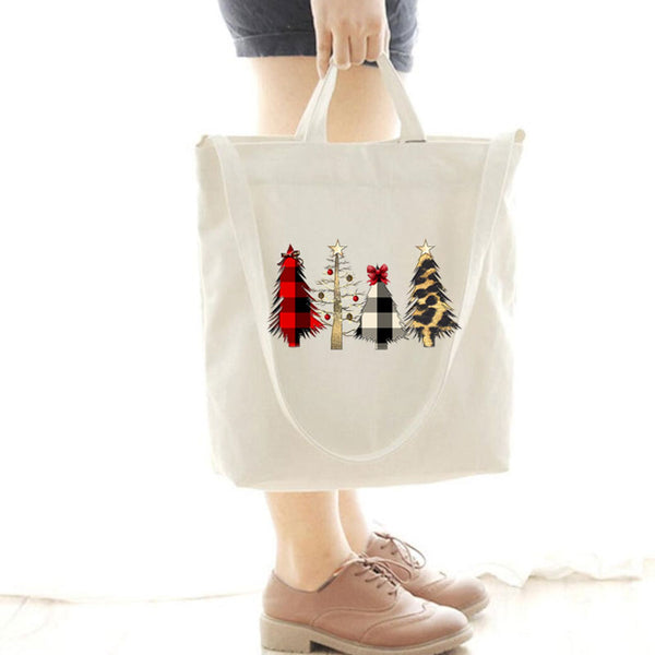 [Special Offer] Wild Christmas Tree Scene Canvas Bag