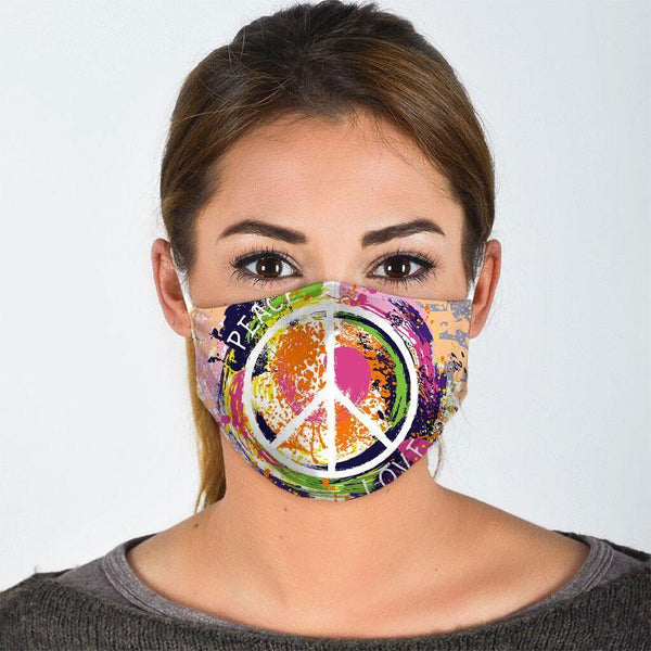 Peace Love Hippie Soul Face Mask
