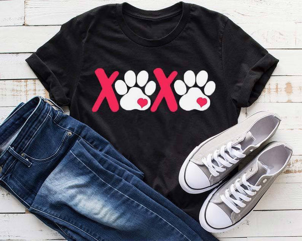 Dog Paw Ptinted Novelty Tee
