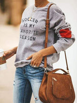 Heart Design Soccer Is My Favorite Season Pullover