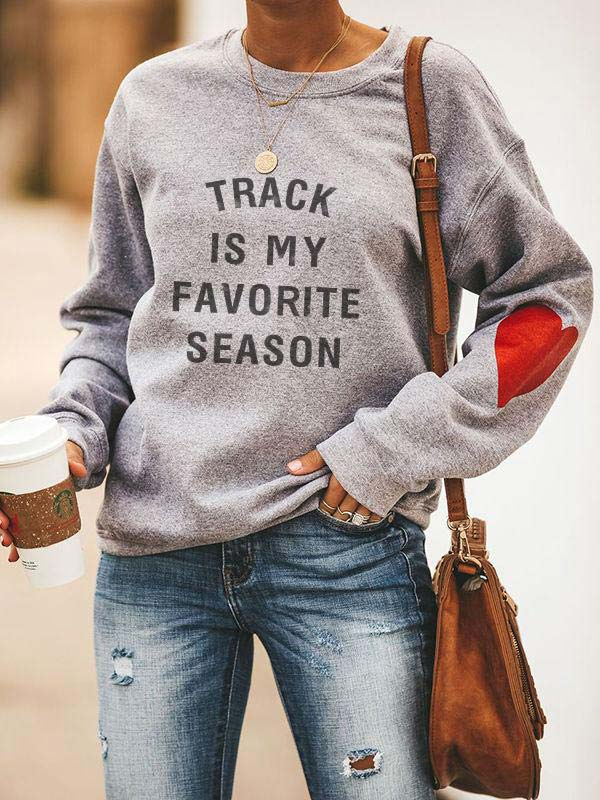 Cotton Heart Design Track Is My Favorite Season Sweatshirt