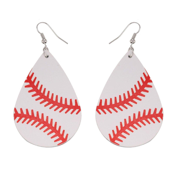 Baseball Drop Earrings - Prettiess