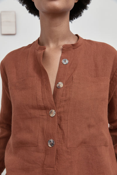 The Nomad Shirt - Rust