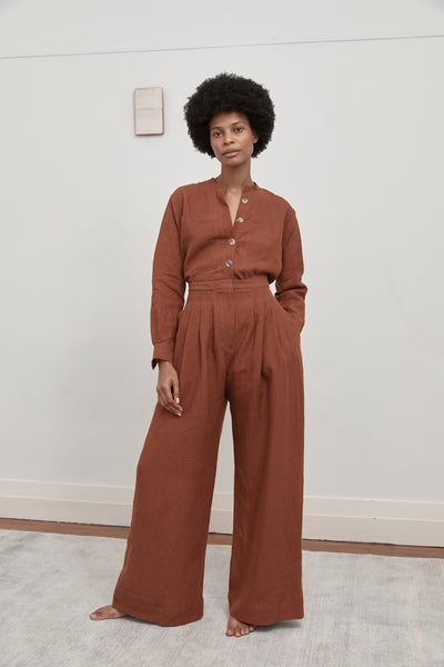 "The Summer Slacks - Rust ""The Suzie Pant"""