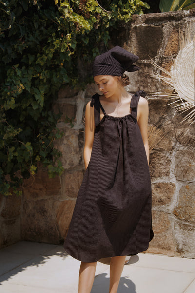 The Sun Dress - Black/charcoal