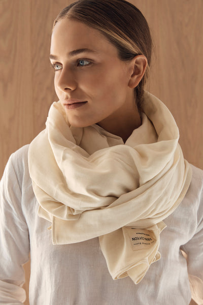The Wrap Scarf - Cream
