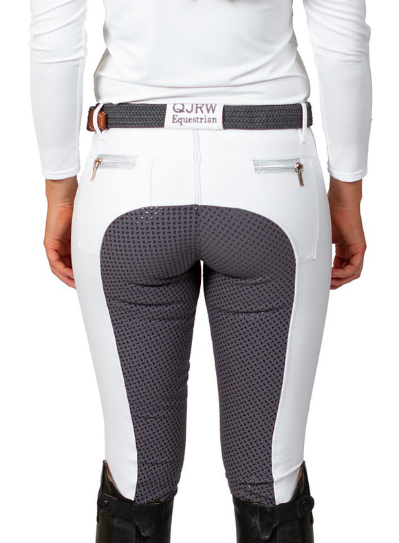 Kids Zara white with grey seat breech