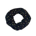 Black Scrunchie with Lime Green Polka Dots