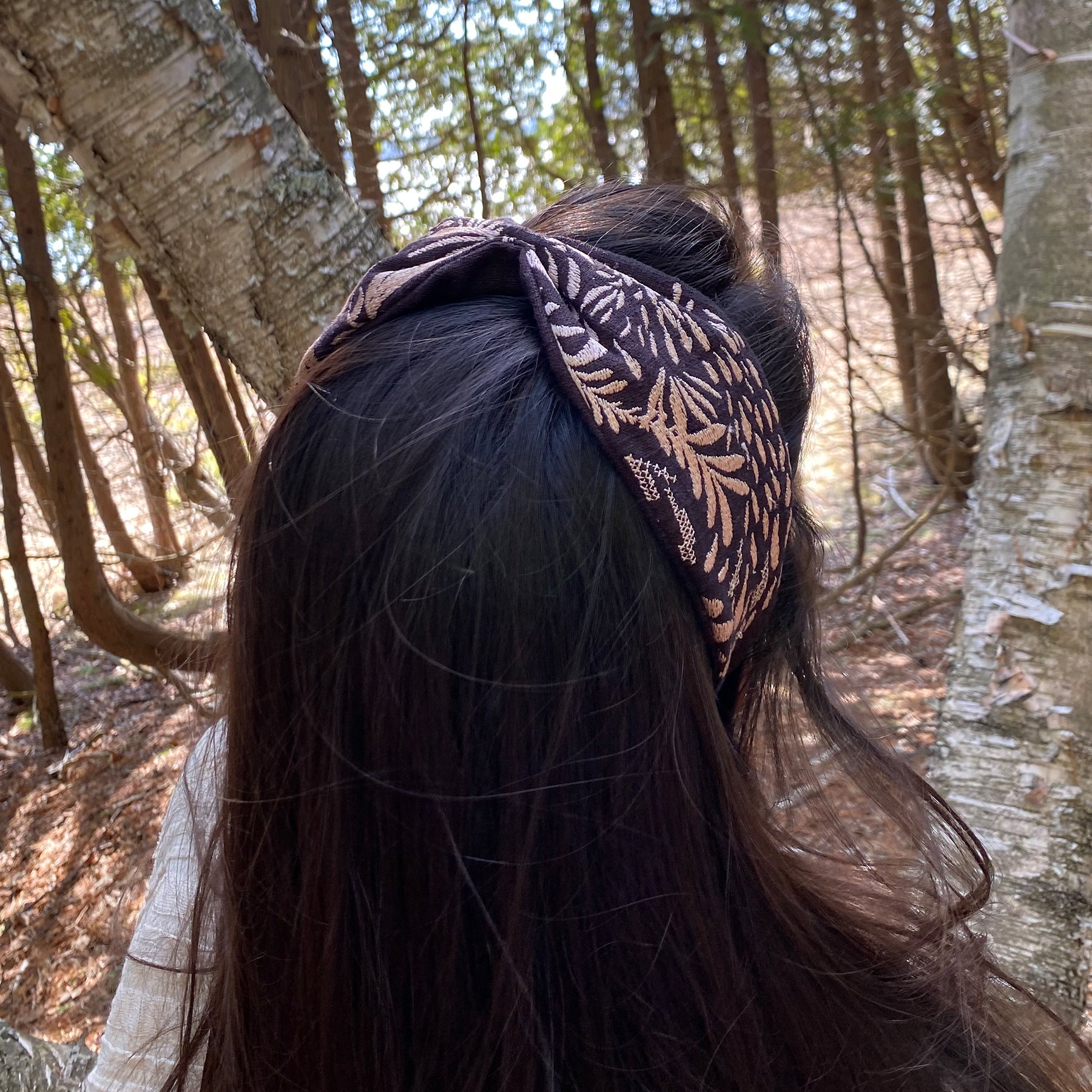 Black Paisley Headband