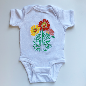 Flower Child Onsie | Red and Yellow Colorway