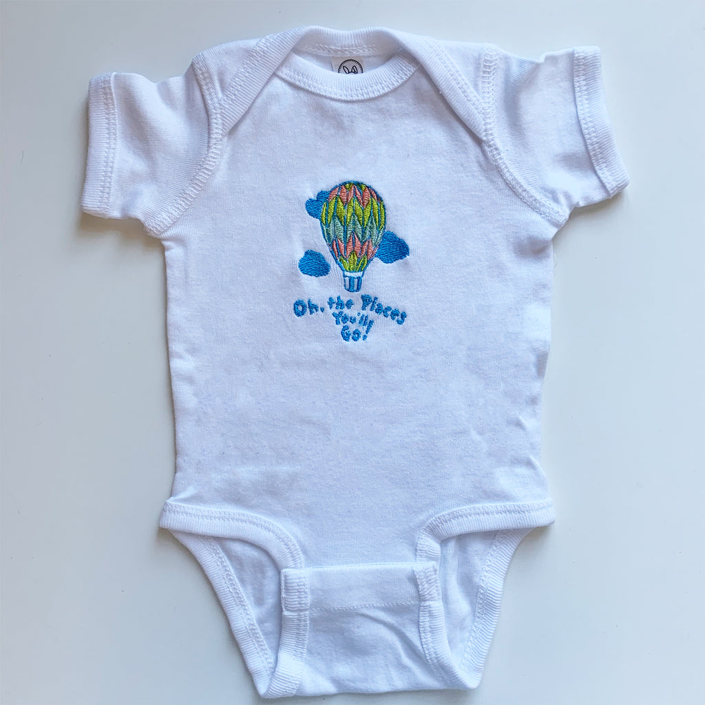 Hot Air Balloon Baby Onsie
