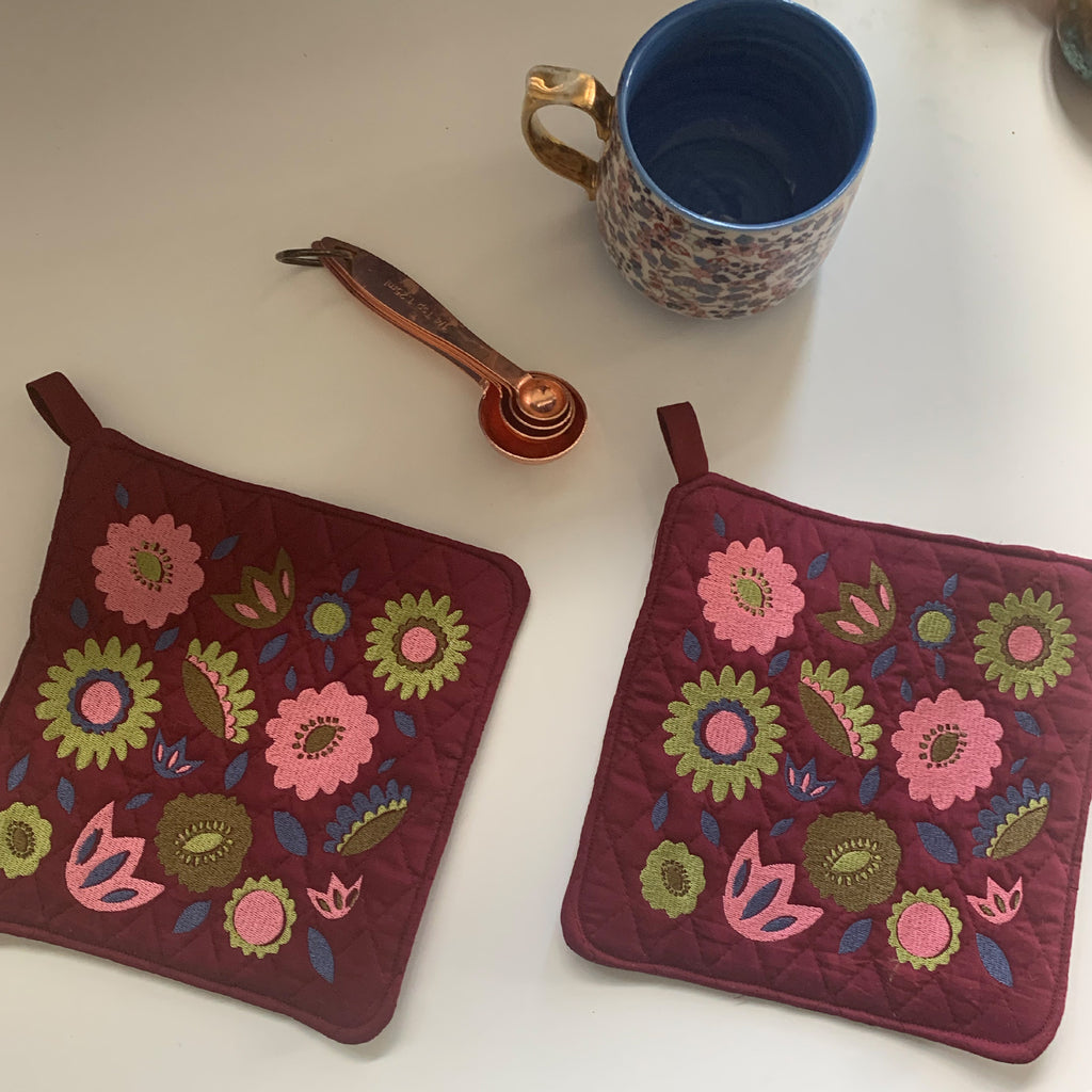 Pot Holder Set | Sweet Spring Colorway