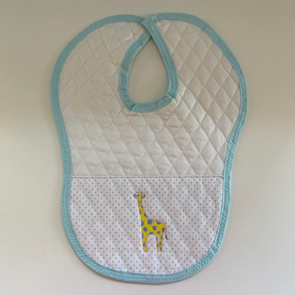 Quilted Yellow Giraffe Baby Bib