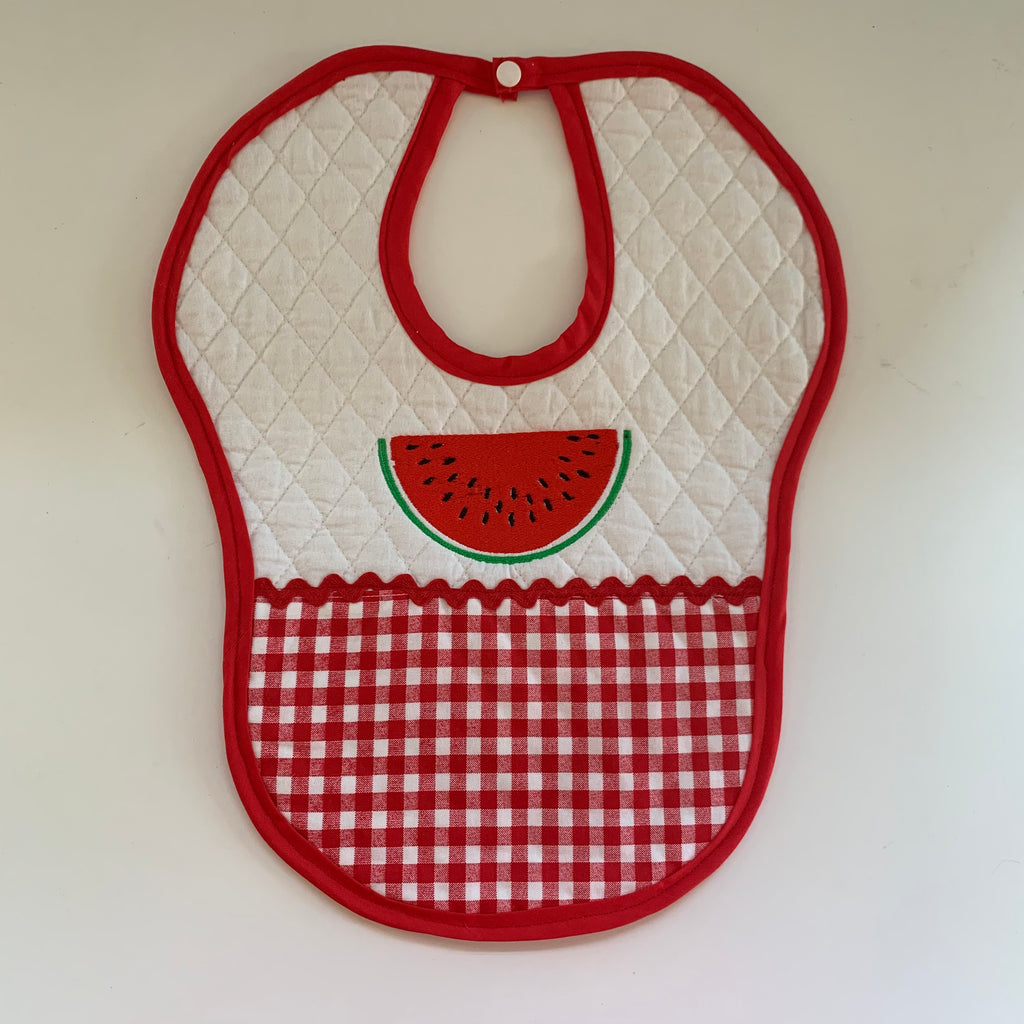 Quilted Watermelon Baby Bib