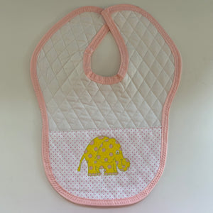 Quilted Yellow Elephant Baby Bib