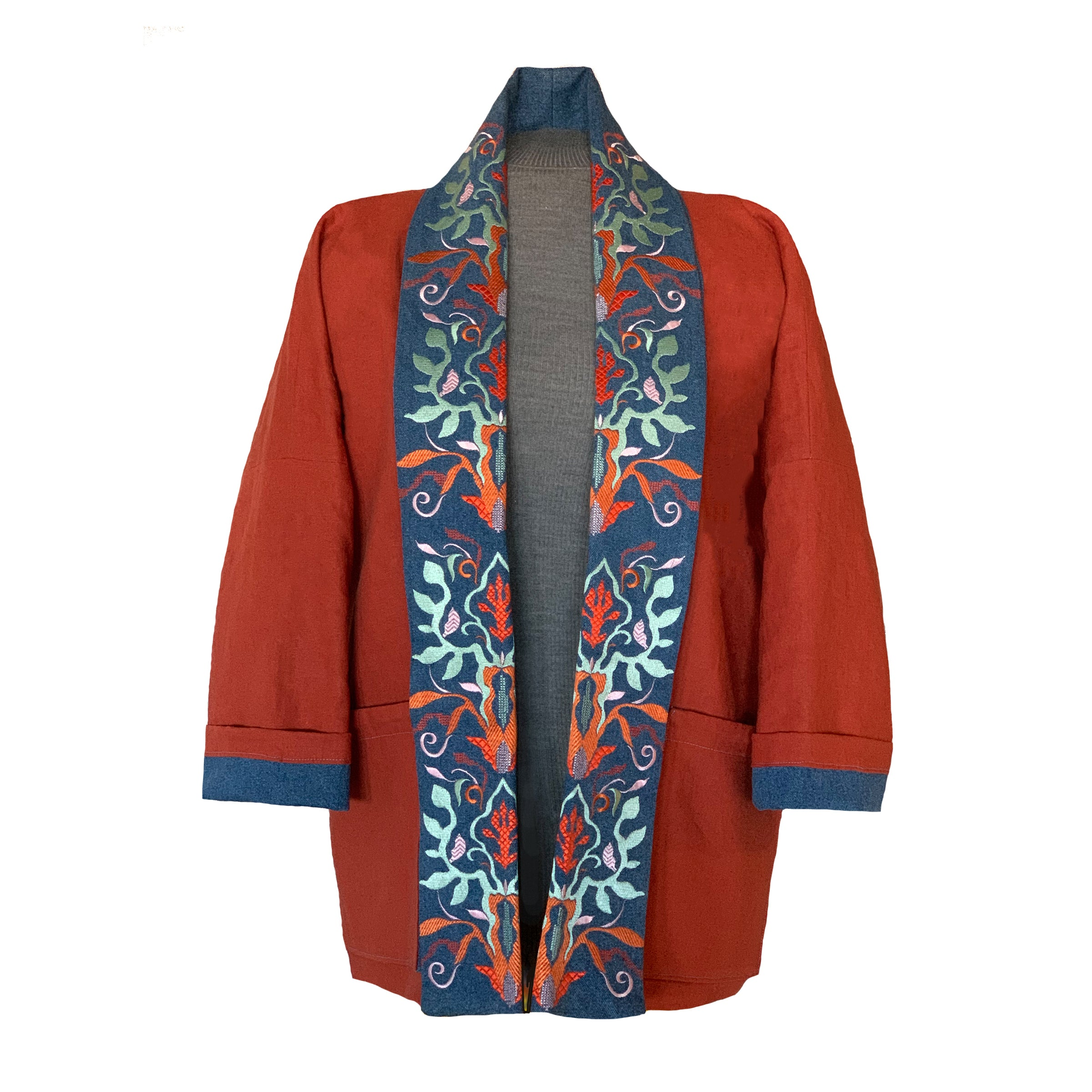 Embroidered Reversible Jacket