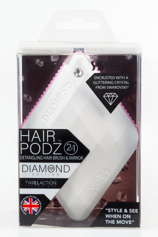 Hair Podz Diamond Brush - Sugar White