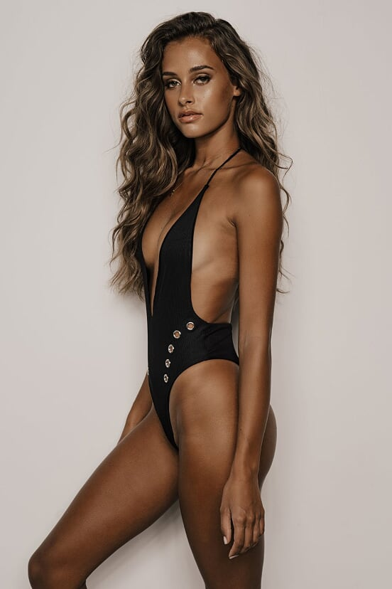 Hendrix One Piece (Black Ribbed)