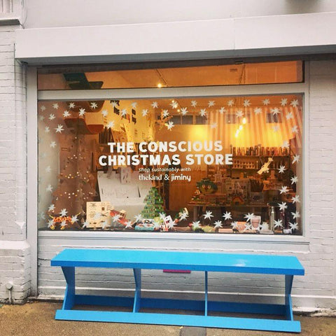 The Conscious Christmas Store window