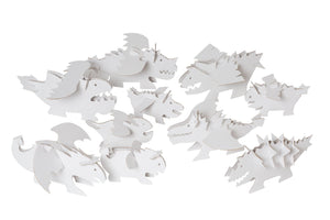 10 Colour-In 3D Dragons - jiminy eco-toys
