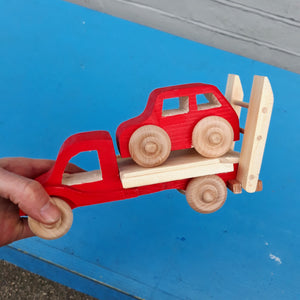 Wooden Irish Recovery Truck with Car