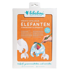 4 Colour-In 3D Elephants - jiminy eco-toys