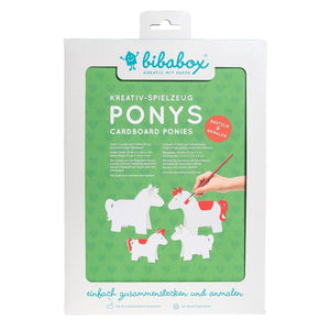 4 Colour-In 3D Ponies - jiminy eco-toys