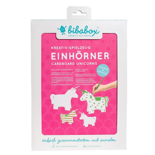 4 Colour-In 3D Unicorns - jiminy eco-toys