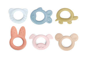 Tiny Teething Ring made from Bioplastic for babies 0+ months - SINGLE-USE PLASTIC PACKAGE :-(
