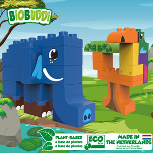 BioBuddi bioplastic building blocks made from plants