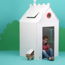 Load image into Gallery viewer, Big Cardboard Colour-In Playhouse