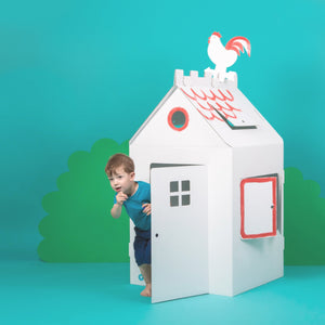 Big Cardboard Colour-In Playhouse