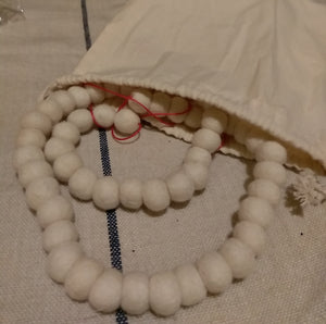 Wool bead garland