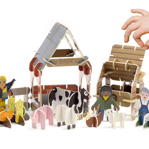 Playpress Farmyard build and play set