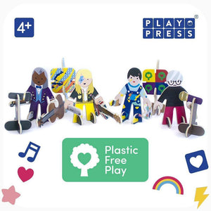 Playpress Talent Show build and play set