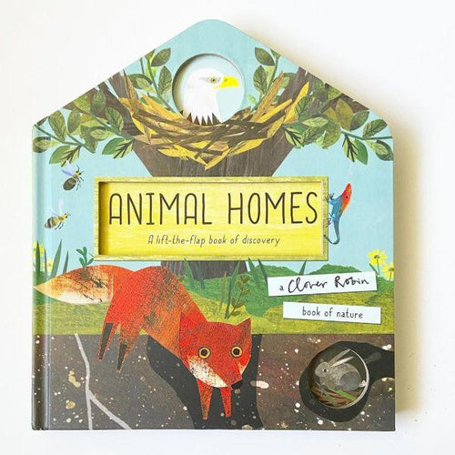Animal Homes, a lift-the-flaps board book by Libby Walden MADE FAR AWAY - jiminy eco-toys