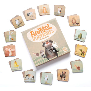 Animal Portraits - a memory game for ages 3+ - jiminy eco-toys