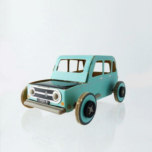 Autogami solar toy car - Blue Retro Renault - jiminy eco-toys