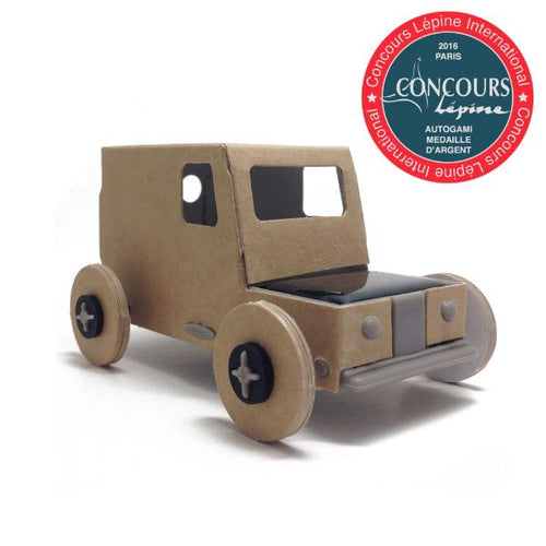 Autogami solar toy car - Kraft Jeep to Decorate - jiminy eco-toys