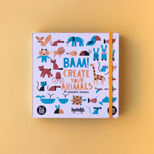 Bam! Stamps and notebook set: Animals - jiminy eco-toys